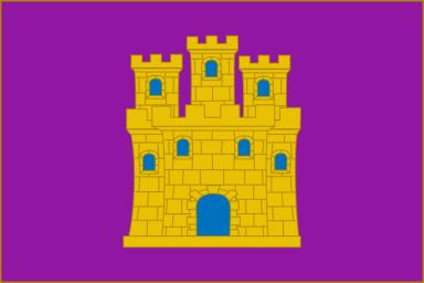 Bandera de Castilla según el Instituto