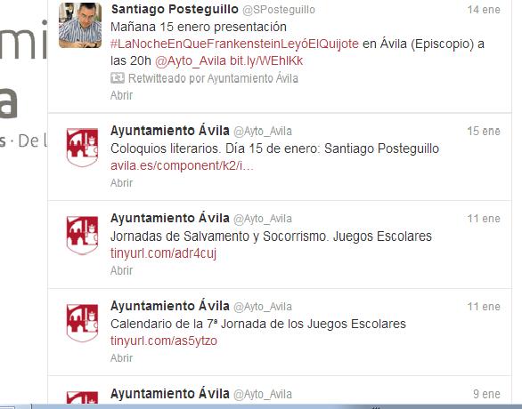 Los 4 palos entrada ana cordobes Twitter_Ayto_Avila