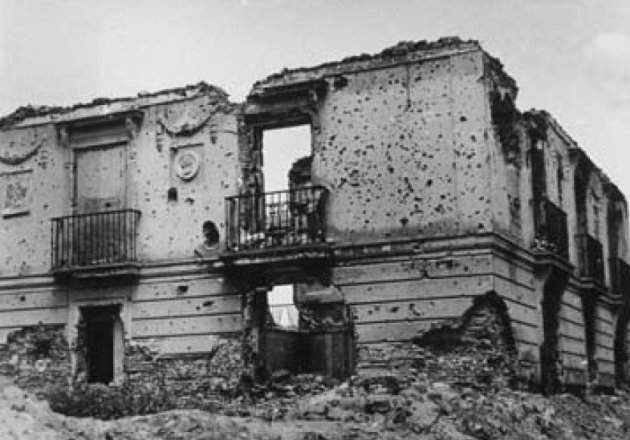 El palacete de la Moncloa destruido por la Guerra Civil