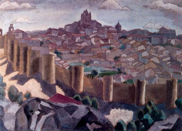 Ávila pintada por Daniel Vázquez Díaz, 1935. Museo de Vitoria. [Foto obtenida de ÁvilaRed]